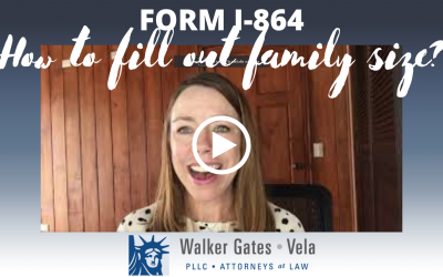 How to calculate family size for Form I-864